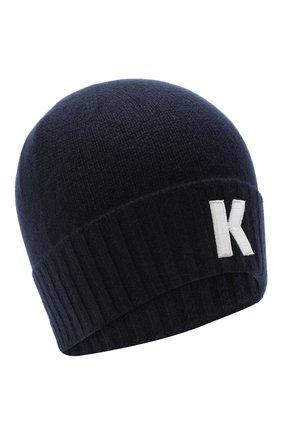 Мужская кашемировая шапка KITON темно-синего цвета, арт. UCAPP01X03T13 | Фото 1