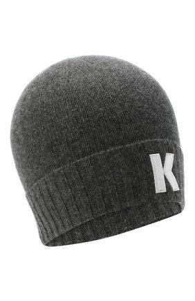 Мужская кашемировая шапка KITON серого цвета, арт. UCAPP01X03T13 | Фото 1