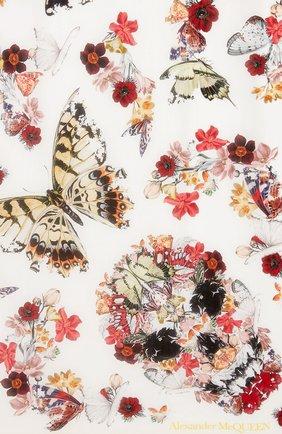 Женский шелковый платок ALEXANDER MCQUEEN светло-бежевого цвета, арт. 639612/3011Q | Фото 2