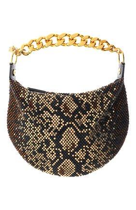 Женская сумка medusa chain VERSACE коричневого цвета, арт. DBSH985/D2TPRS | Фото 1