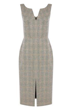 Женское платье ALEXANDER MCQUEEN серого цвета, арт. 649798/QJABO | Фото 1