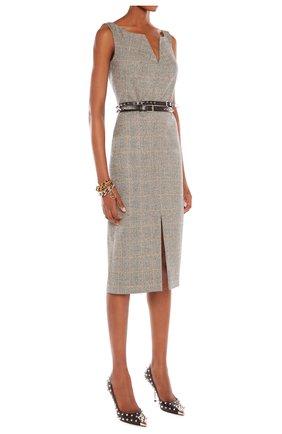 Женское платье ALEXANDER MCQUEEN серого цвета, арт. 649798/QJABO | Фото 2