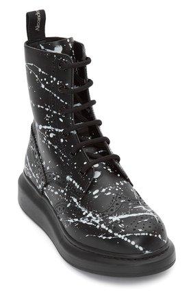 Женские кожаные ботинки ALEXANDER MCQUEEN черного цвета, арт. 650800/WHFL9 | Фото 2