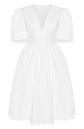 Женское платье ALEXANDER MCQUEEN белого цвета, арт. 650145/QAAAC | Фото 1