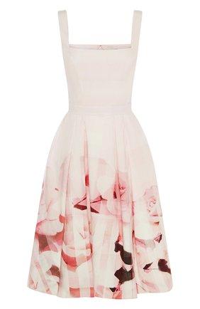 Женское платье ALEXANDER MCQUEEN розового цвета, арт. 651670/QCACB | Фото 1