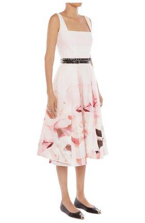 Женское платье ALEXANDER MCQUEEN розового цвета, арт. 651670/QCACB | Фото 2