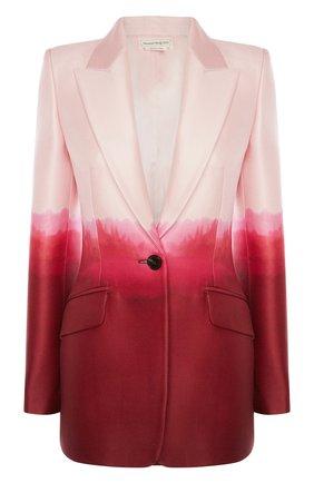 Женский жакет ALEXANDER MCQUEEN розового цвета, арт. 650922/QCAB1 | Фото 1