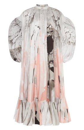 Женское платье ALEXANDER MCQUEEN разноцветного цвета, арт. 651061/QCAB4 | Фото 1