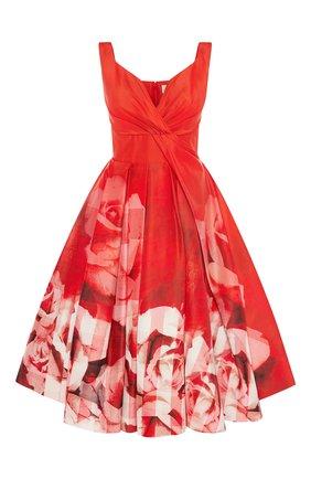 Женское платье ALEXANDER MCQUEEN красного цвета, арт. 651668/QCACD | Фото 1