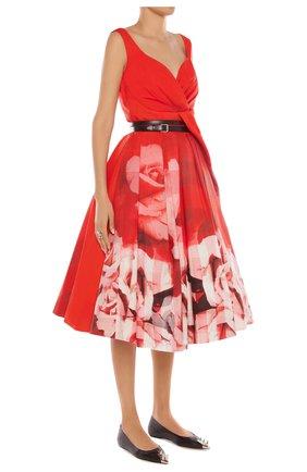 Женское платье ALEXANDER MCQUEEN красного цвета, арт. 651668/QCACD | Фото 2