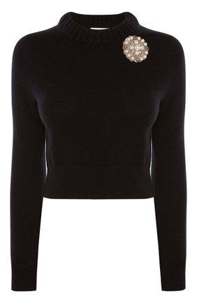 Женский пуловер ALEXANDER MCQUEEN черного цвета, арт. 650357/Q1ATF | Фото 1