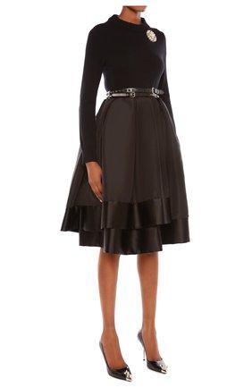 Женский пуловер ALEXANDER MCQUEEN черного цвета, арт. 650357/Q1ATF | Фото 2