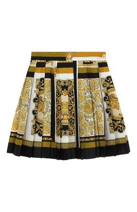 Женская шелковая юбка VERSACE золотого цвета, арт. A79448/1F00385 | Фото 1