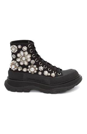 Женские текстильные ботинки ALEXANDER MCQUEEN черного цвета, арт. 652246/W4L3I | Фото 1