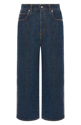 Женские джинсы ALEXANDER MCQUEEN синего цвета, арт. 650674/QMABB | Фото 1