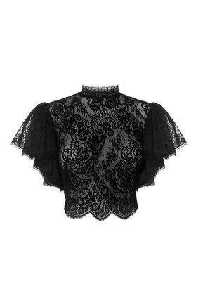 Женский топ ALEXANDER MCQUEEN черного цвета, арт. 645459/QEACI | Фото 1