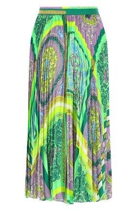 Женская плиссированная юбка VERSACE разноцветного цвета, арт. A88558/1F00387 | Фото 2
