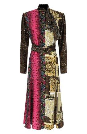 Женское шелковое платье VERSACE разноцветного цвета, арт. A88647/1F00456 | Фото 1