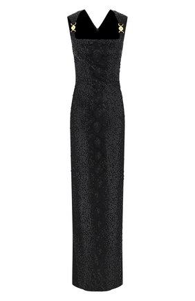 Женское платье из вискозы VERSACE черного цвета, арт. A88470/A223485 | Фото 1