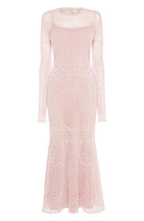 Женское платье ALEXANDER MCQUEEN розового цвета, арт. 650280/Q1ASF | Фото 1