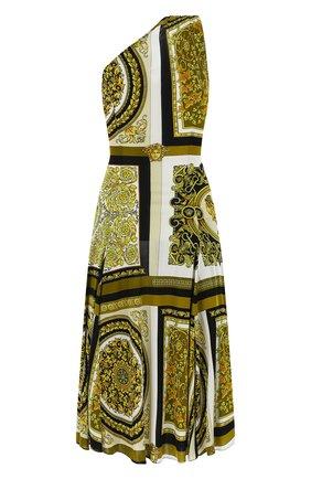 Женское платье из вискозы VERSACE золотого цвета, арт. A88501/1F00454 | Фото 2