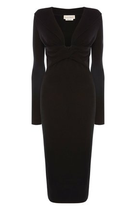 Женское платье ALEXANDER MCQUEEN черного цвета, арт. 650269/Q1AR9 | Фото 1