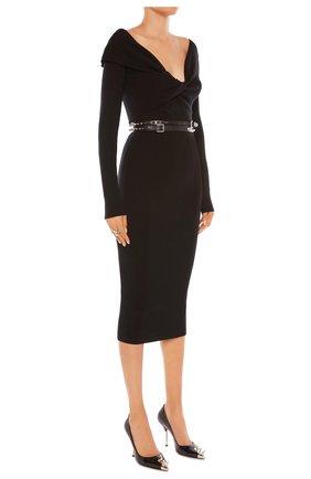 Женское платье ALEXANDER MCQUEEN черного цвета, арт. 650269/Q1AR9 | Фото 2