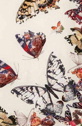 Женский шелковый платок ALEXANDER MCQUEEN бежевого цвета, арт. 638345/3001Q | Фото 2
