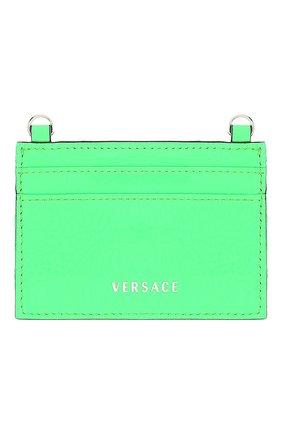 Женский кожаный футляр для кредитных карт VERSACE зеленого цвета, арт. DP3H977V/DNAPLT   Фото 2