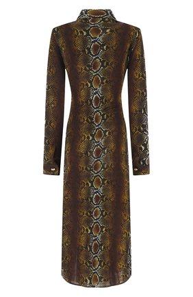Женское платье из вискозы VERSACE коричневого цвета, арт. A88465/1F00460 | Фото 2