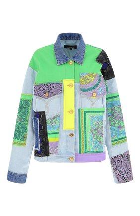 Женская джинсовая куртка VERSACE разноцветного цвета, арт. A88516/1F00408 | Фото 1
