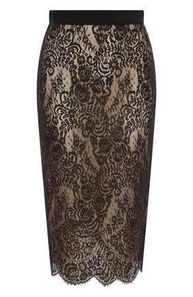 Женская юбка ALEXANDER MCQUEEN черного цвета, арт. 650902/QEACI | Фото 1