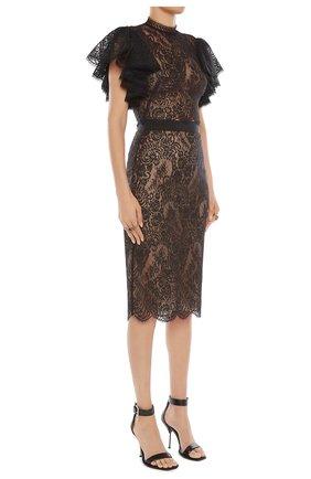 Женская юбка ALEXANDER MCQUEEN черного цвета, арт. 650902/QEACI | Фото 2