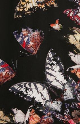 Женский шелковый платок ALEXANDER MCQUEEN черного цвета, арт. 638345/3001Q | Фото 2