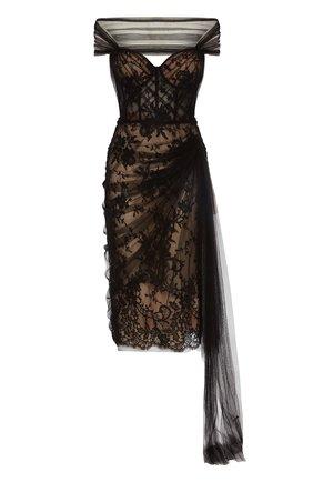 Женское платье ALEXANDER MCQUEEN черного цвета, арт. 650282/QZACG | Фото 1