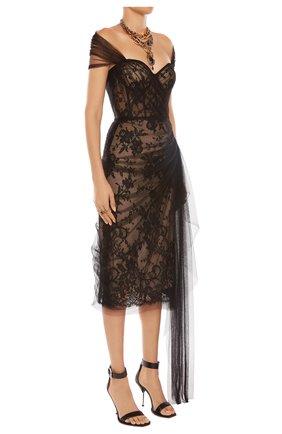 Женское платье ALEXANDER MCQUEEN черного цвета, арт. 650282/QZACG | Фото 2