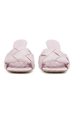 Женские кожаные мюли BOTTEGA VENETA светло-розового цвета, арт. 608854/VBSS0   Фото 2