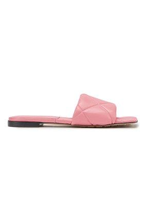 Женские кожаные шлепанцы BOTTEGA VENETA розового цвета, арт. 639940/VBP30 | Фото 1