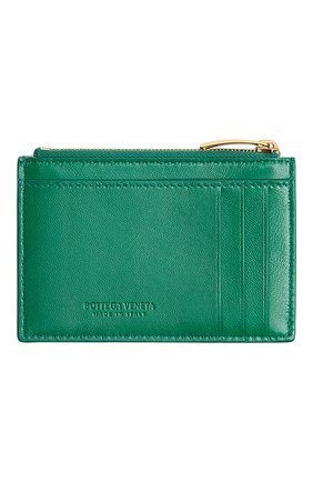 Женский кожаный футляр для кредитных карт BOTTEGA VENETA зеленого цвета, арт. 651393/VCQC4 | Фото 2