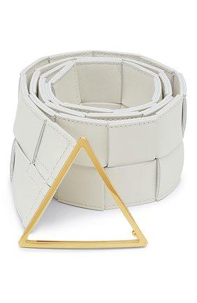 Женский кожаный ремень BOTTEGA VENETA белого цвета, арт. 651252/VMAY2   Фото 1
