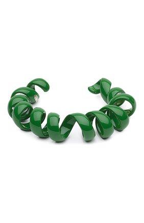 Женский браслет BOTTEGA VENETA зеленого цвета, арт. 649311/V5081 | Фото 1