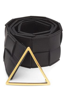 Женский кожаный ремень BOTTEGA VENETA черного цвета, арт. 651252/VMAY2   Фото 1