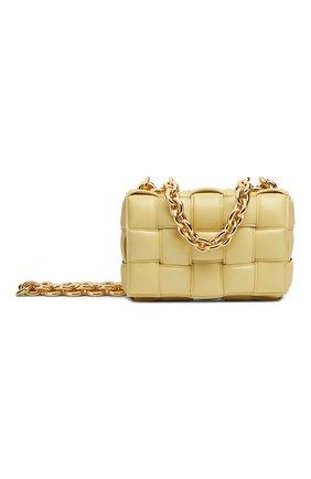 Женская сумка chain cassette BOTTEGA VENETA желтого цвета, арт. 631421/VBWZ0 | Фото 1