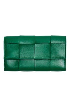 Женские кожаное портмоне BOTTEGA VENETA зеленого цвета, арт. 651387/VCQC4 | Фото 1