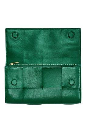 Женские кожаное портмоне BOTTEGA VENETA зеленого цвета, арт. 651387/VCQC4 | Фото 2