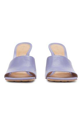 Женские кожаные мюли BOTTEGA VENETA сиреневого цвета, арт. 610538/VBSF0   Фото 2