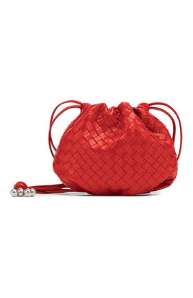 Женская сумка bulb mini BOTTEGA VENETA красного цвета, арт. 651905/V08Z1 | Фото 1