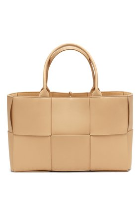 Женская сумка-тоут arco BOTTEGA VENETA бежевого цвета, арт. 609175/VMAY5 | Фото 1