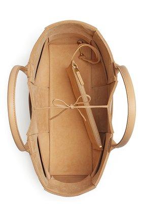Женская сумка-тоут arco BOTTEGA VENETA бежевого цвета, арт. 609175/VMAY5 | Фото 2