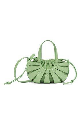 Женская сумка shell BOTTEGA VENETA светло-зеленого цвета, арт. 651819/VMAUH | Фото 1